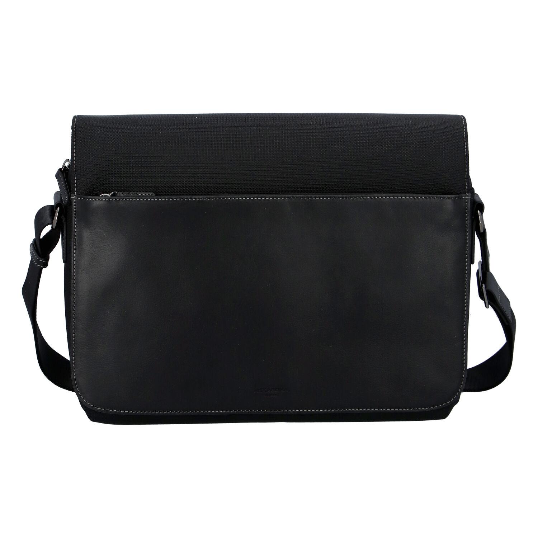 Pánska kožená taška cez plece čierna - Hexagona 296181 čierna