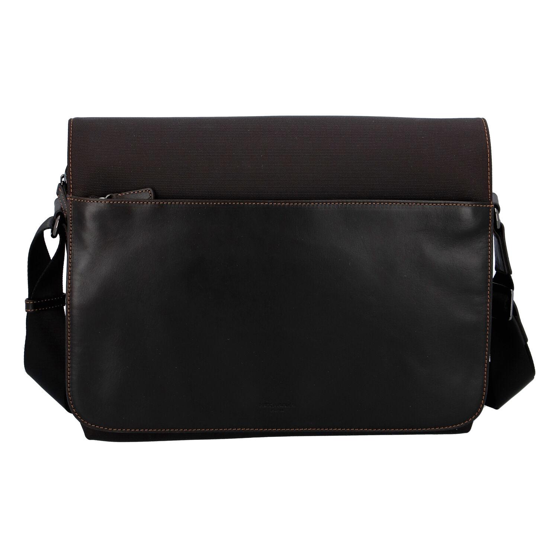 Pánska kožená taška cez plece hnedá - Hexagona 296181 hnedá