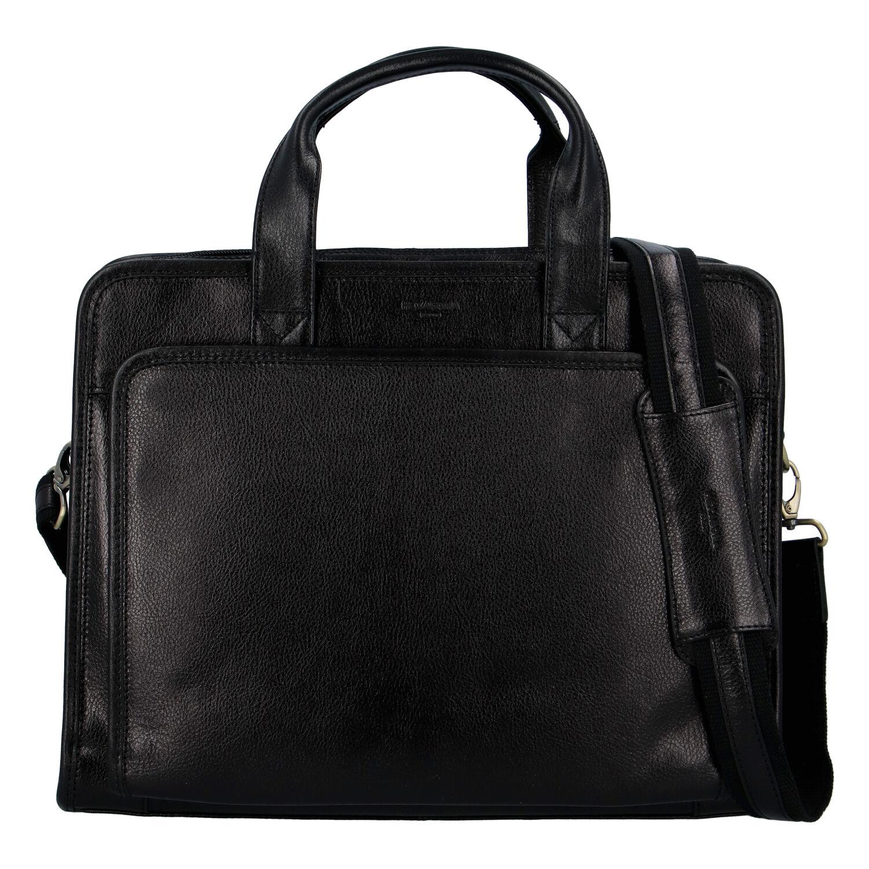 Kožená business taška čierna - Hexagona PereNoel čierna