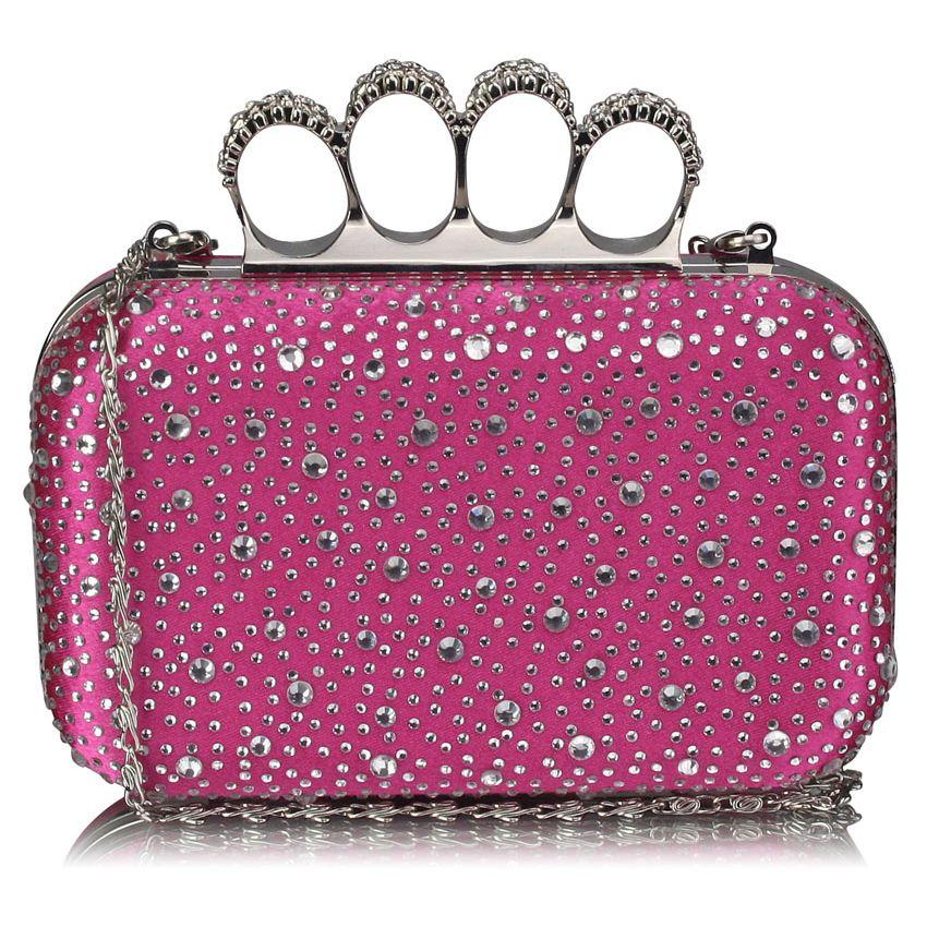 Luxusná ružová kamienková listová kabelka s boxerom LSE00119 ružová