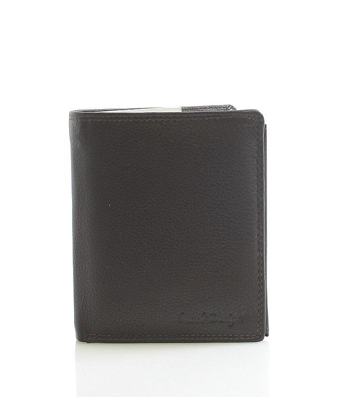 Hnedá kožená peňaženka SendiDesign P16-6 hnedá