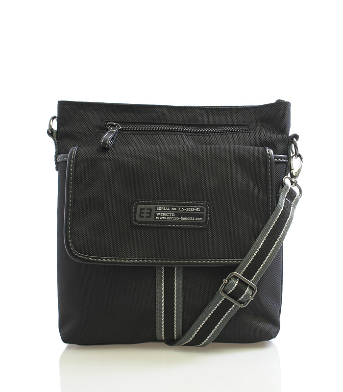 Čierna taška cez rameno Enrico Benetti 4474 čierna