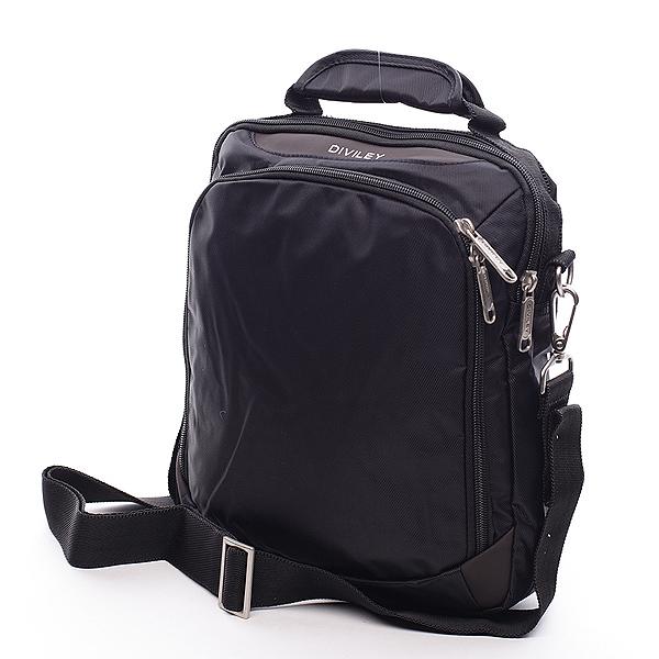 Čierna taška cez rameno Diviley Cody čierna