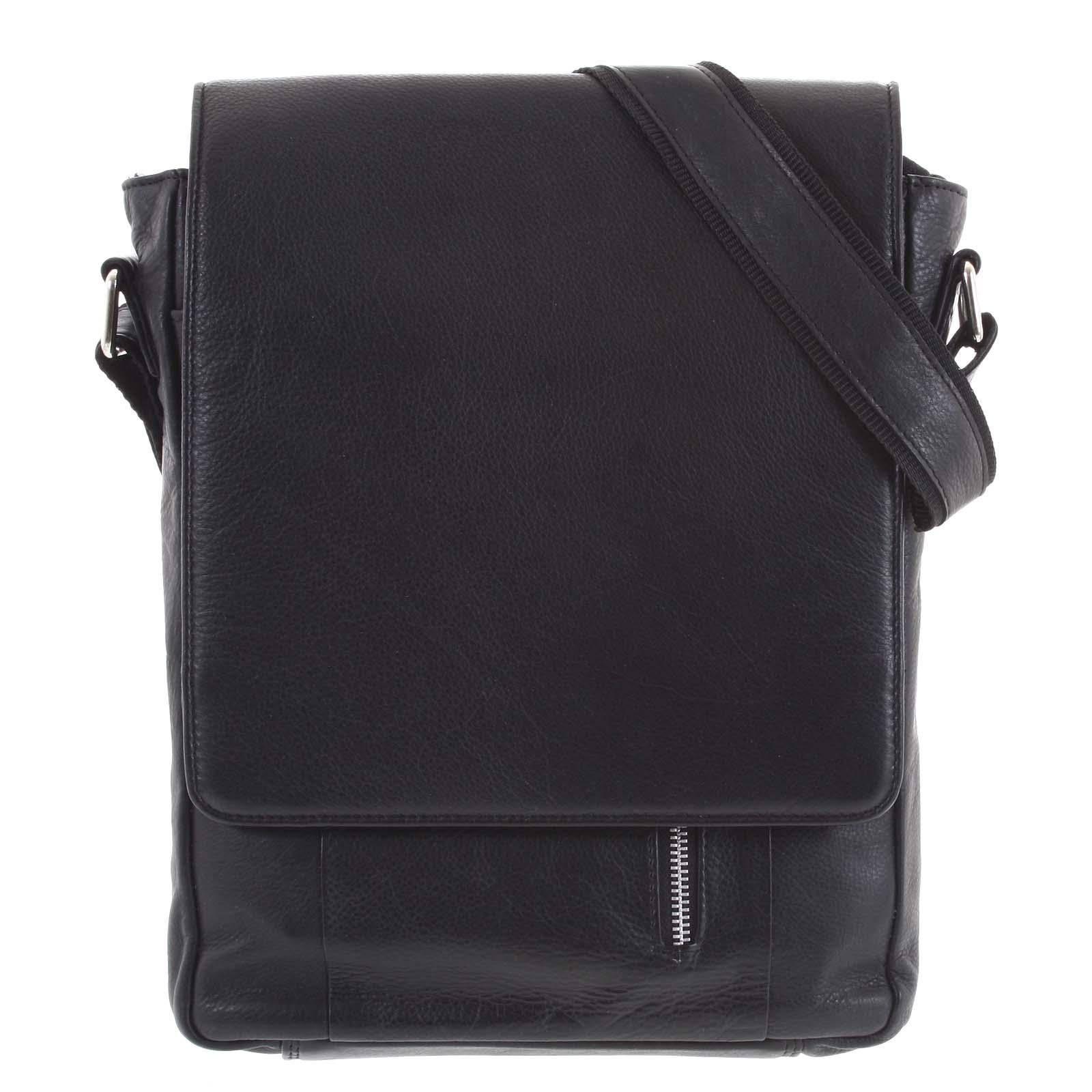 Pánska kožená taška čierna - Tomas Harry čierna