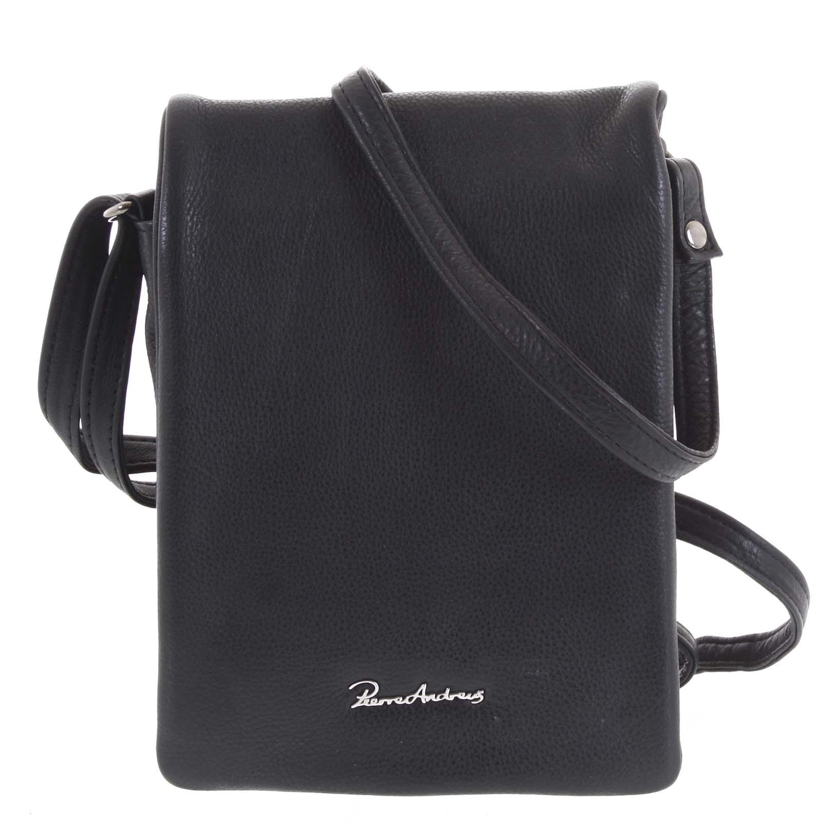 Originálne kožená kabelka čierna - Pierre Andreus Yema čierna