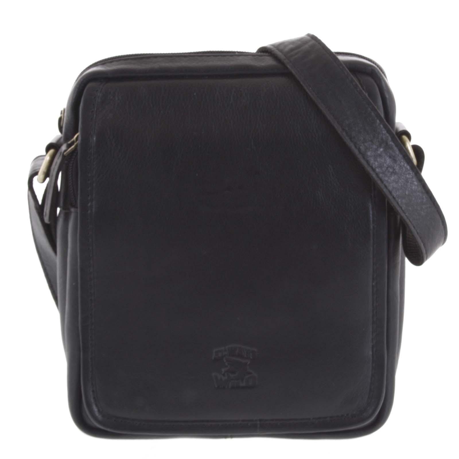 Čierna klasická pánska kožená taška - WILD More čierna