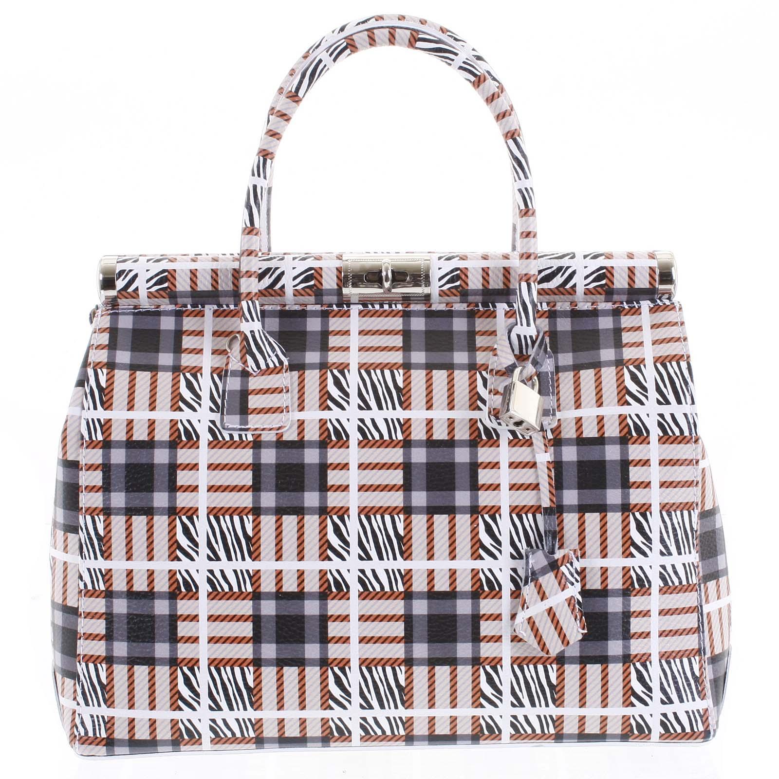 Módna originálny dámska kožená kabelka do ruky farebná - ItalY Hila farebná