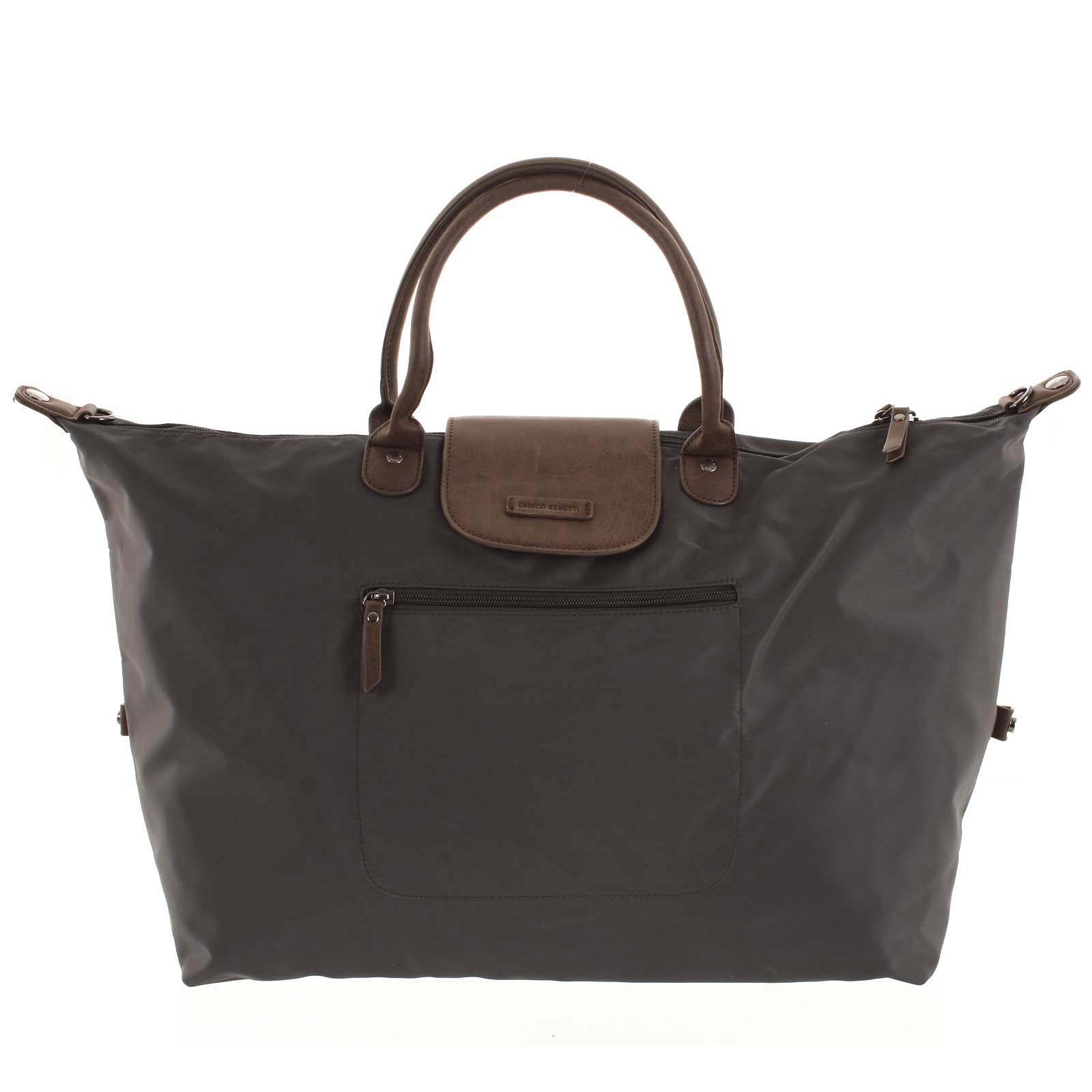 Vodeodolná cestovná taška tmavo šedá - Enrico Benetti Maroony šedá