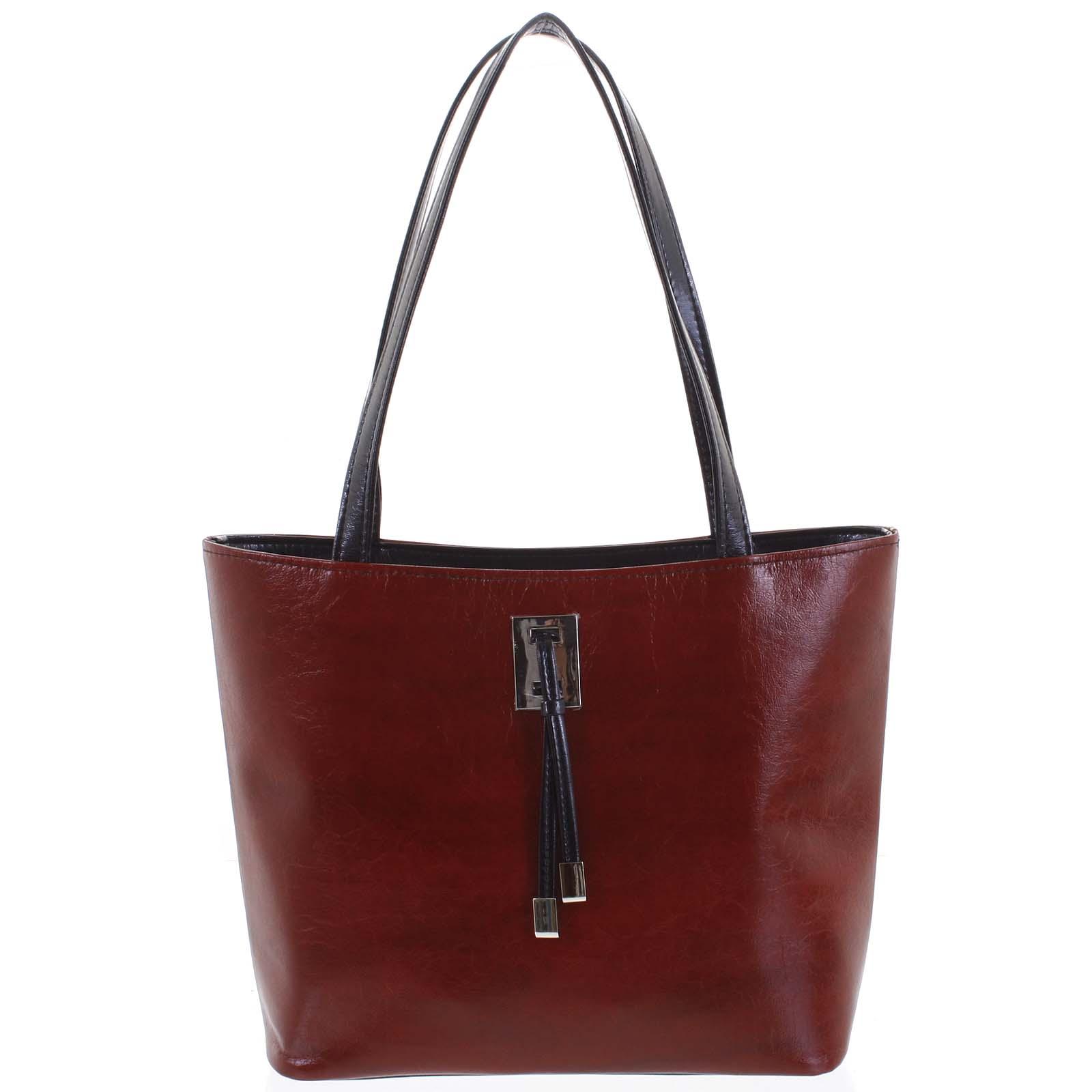Veľká bordo vzorovaná dámska kabelka cez rameno - Ellis Huyen vínová