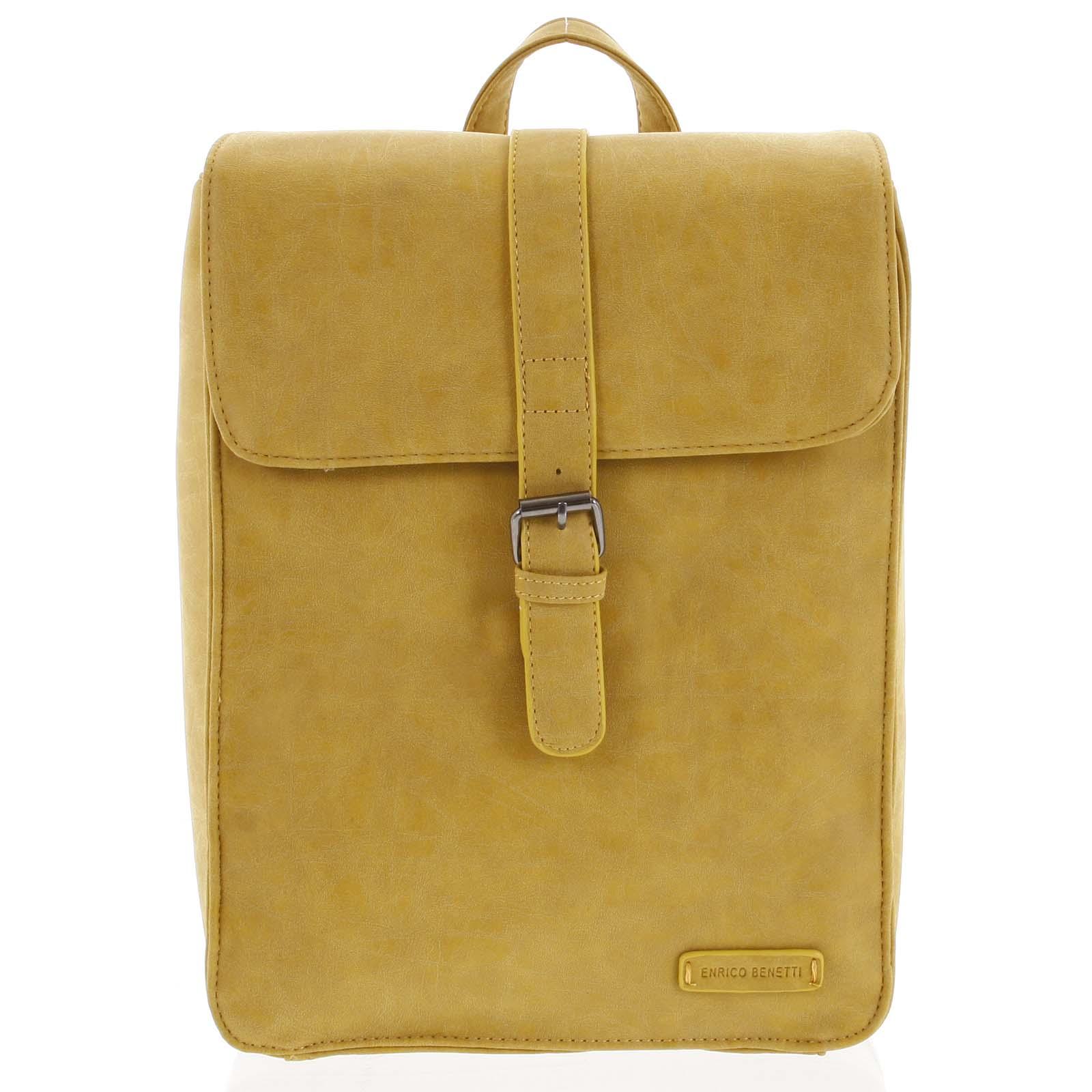 Štýlový batoh žltý- Enrico Benetti Steffani žltá