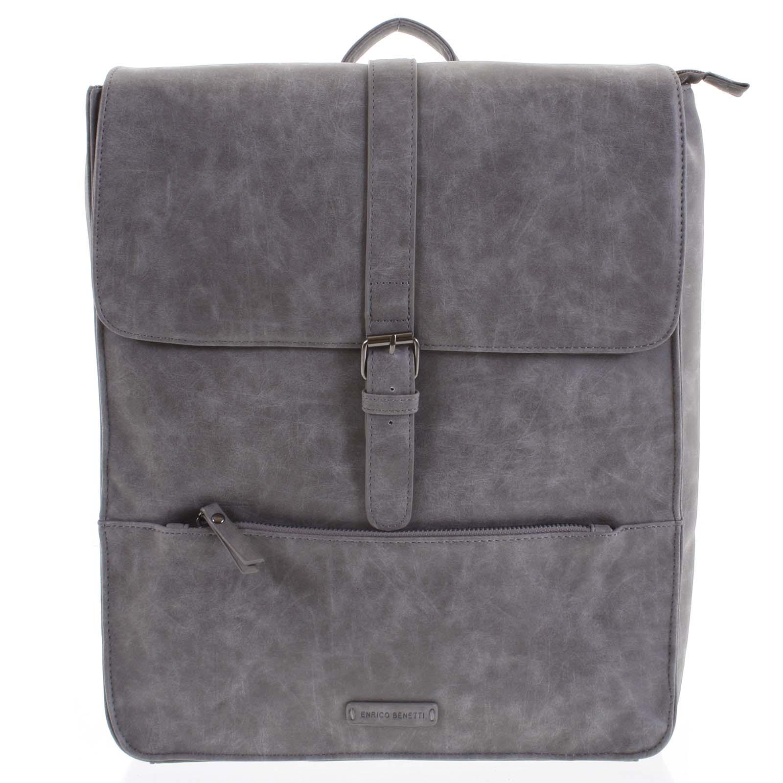 Moderný batoh stredne sivý - Enrico Benetti Kaarlo šedá