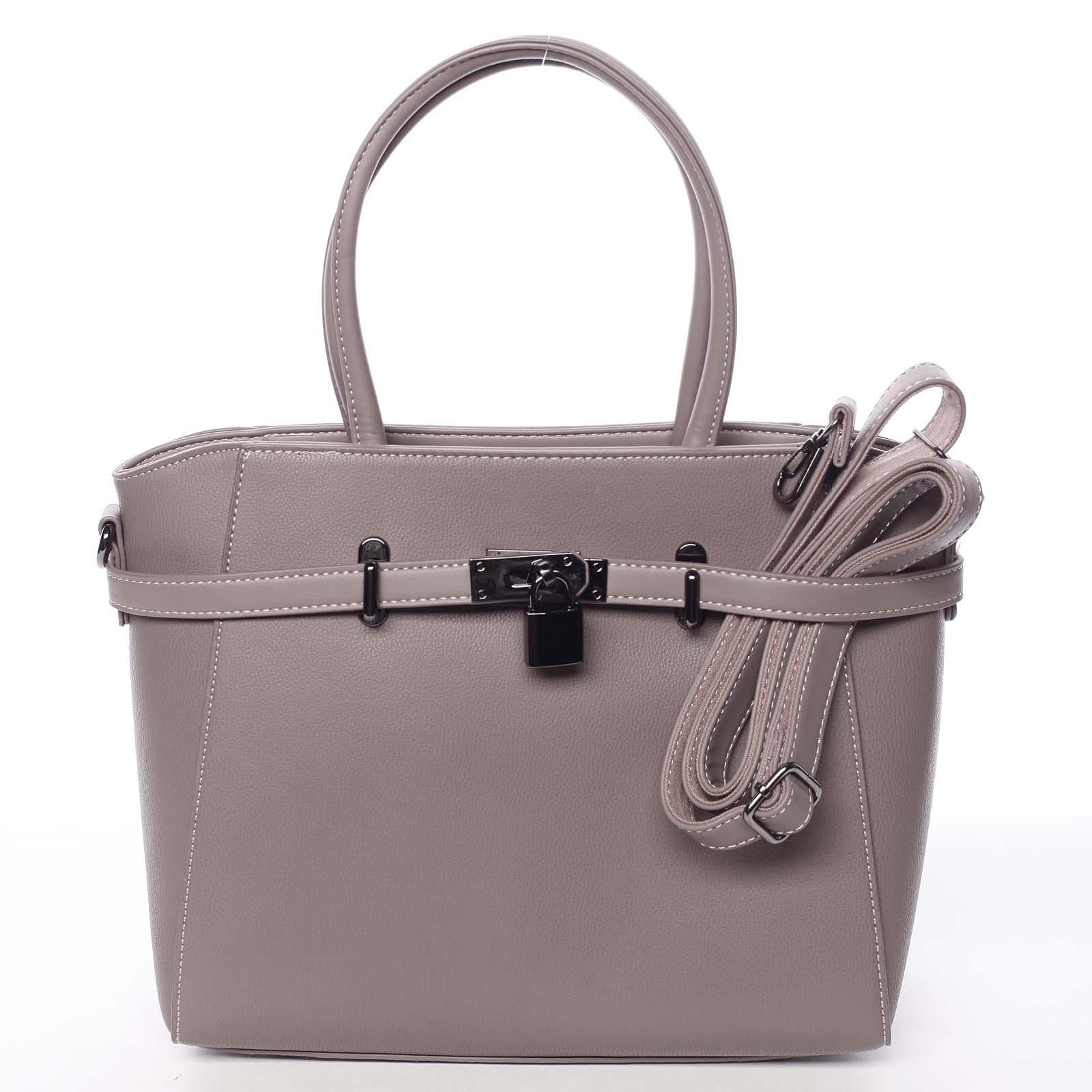 Luxusná štýlová menšia tmavá staroružová kabelka do ruky - David Jones Haless ružová
