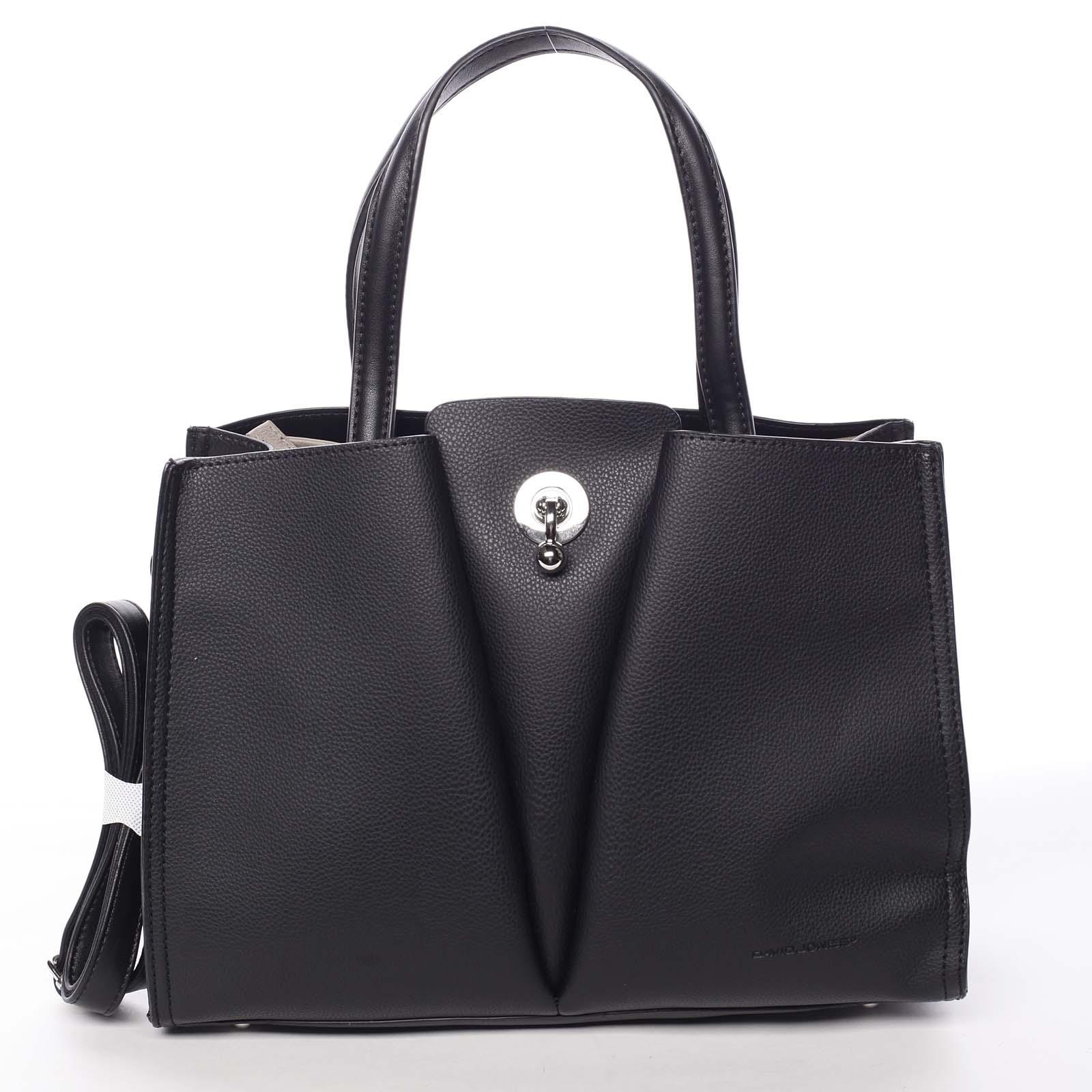 Luxusná dámska čierna kabelka do ruky - David Jones Aedon čierna
