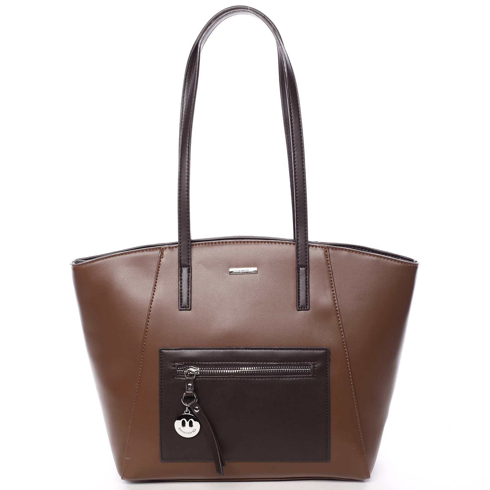 Moderná dámska kabelka cez plece hnedá - David Jones Adria hnedá