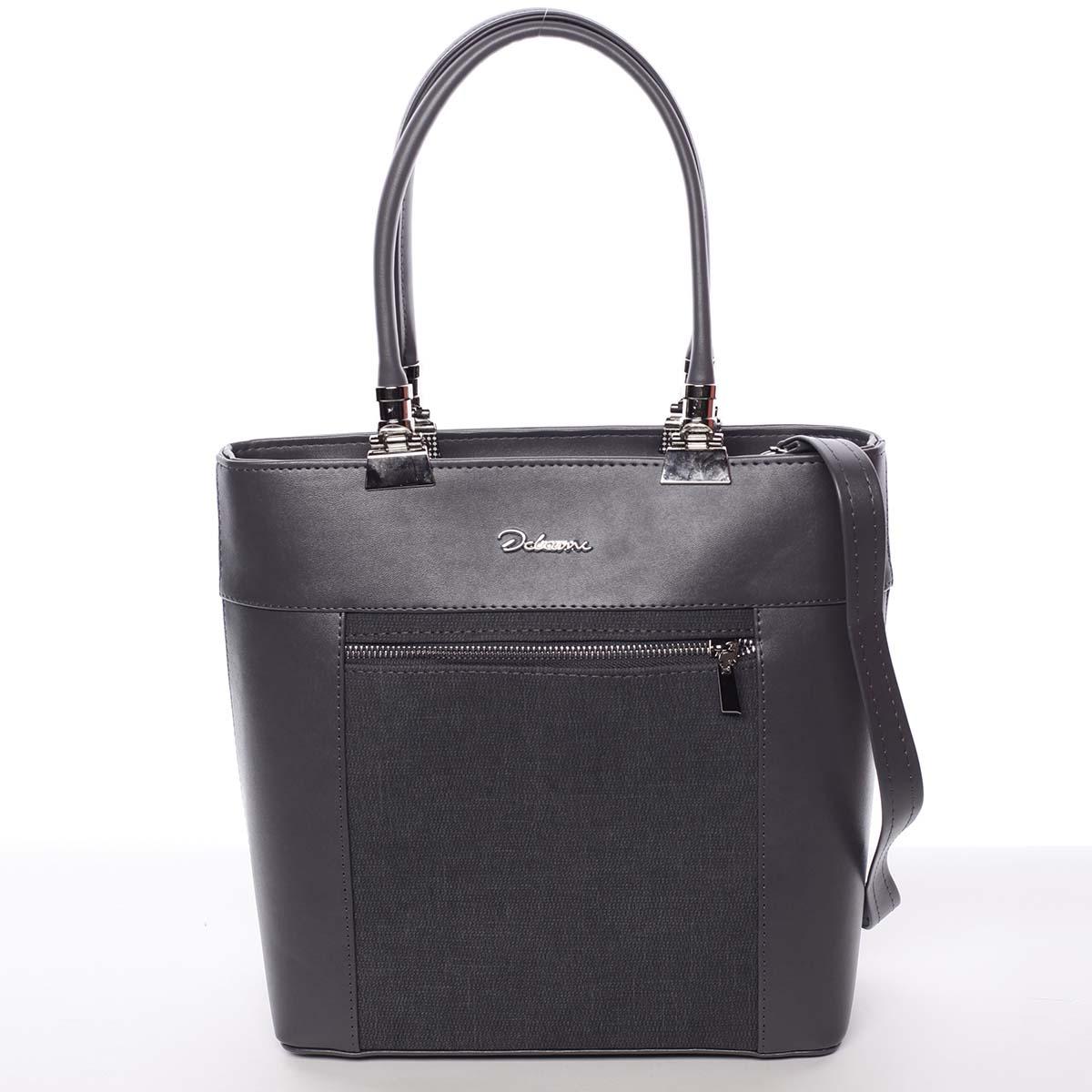 Elegantná dámska kabelka šedá - Delami Kassandra šedá