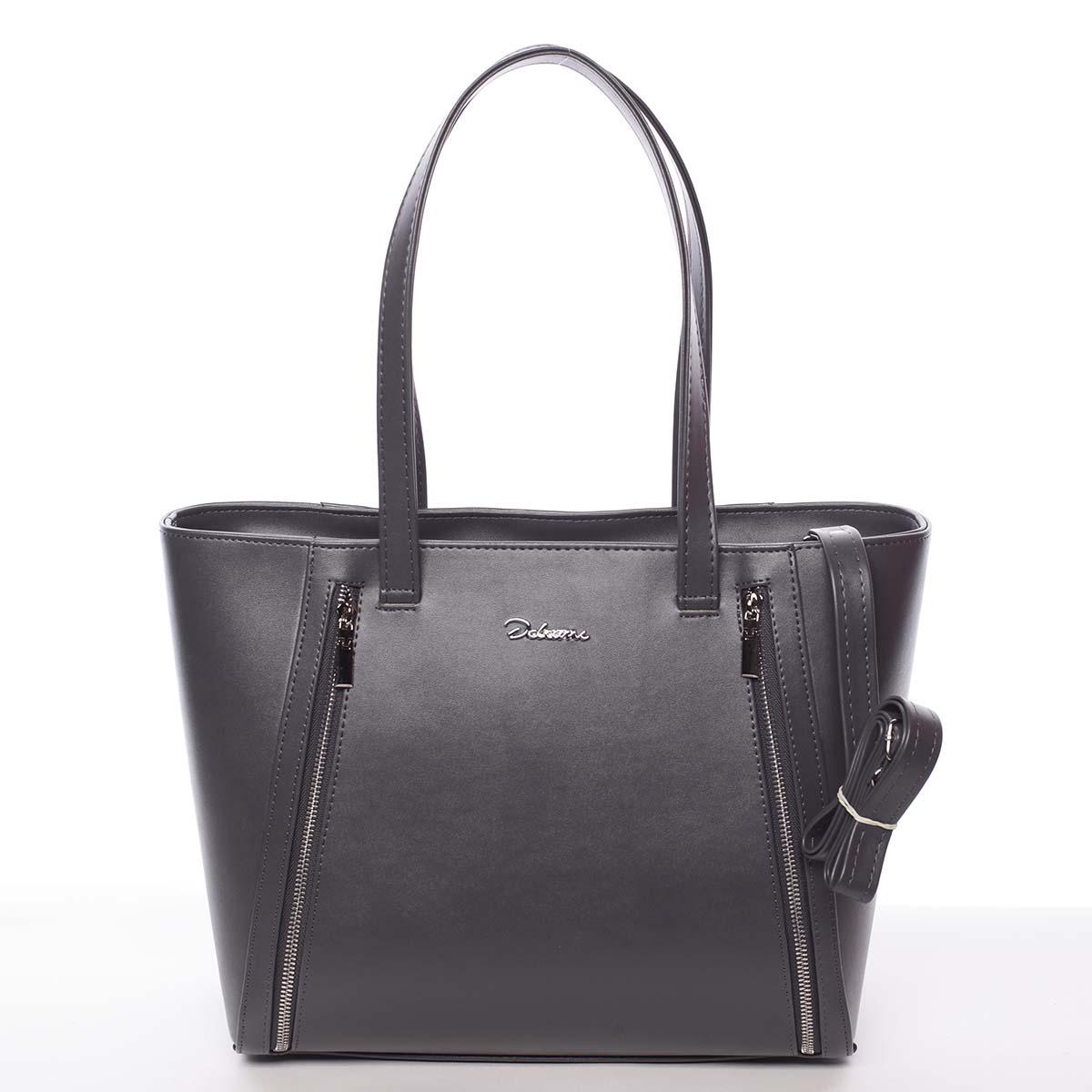 Módna dámska kabelka cez rameno šedá - Delami Bambi šedá