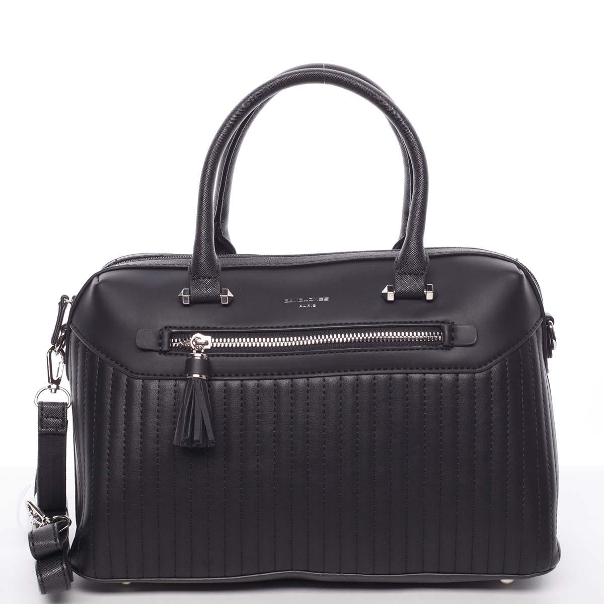 Exkluzívna čierna kabelka do ruky - David Jones Brynlee čierna