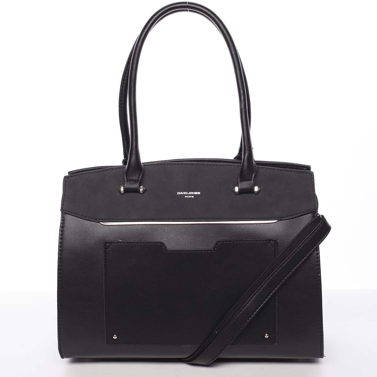 Jedinečná dámska čierna kabelka - David Jones Hazel čierna