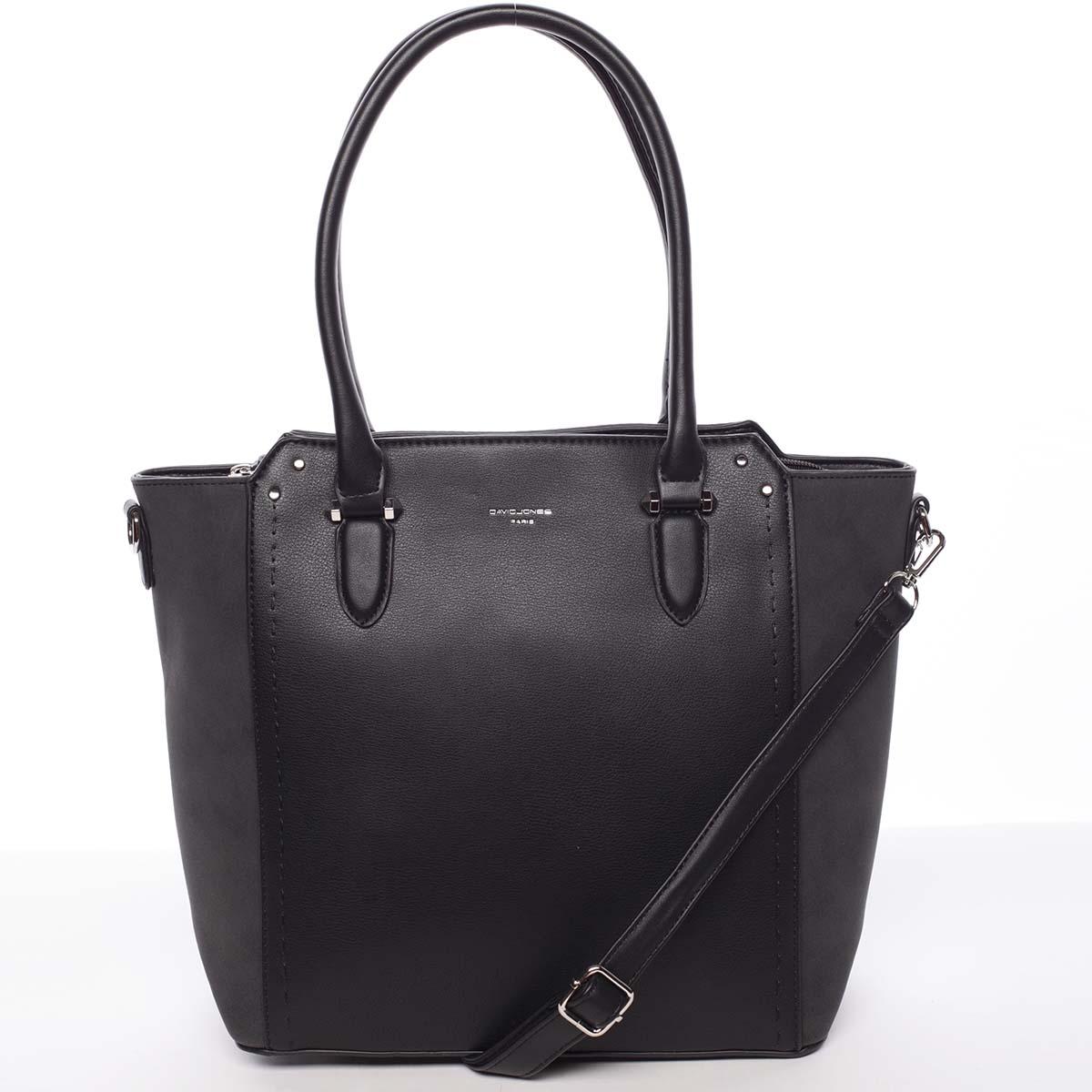 Väčšia dámska čierna kabelka cez rameno - David Jones Pelagiana čierna