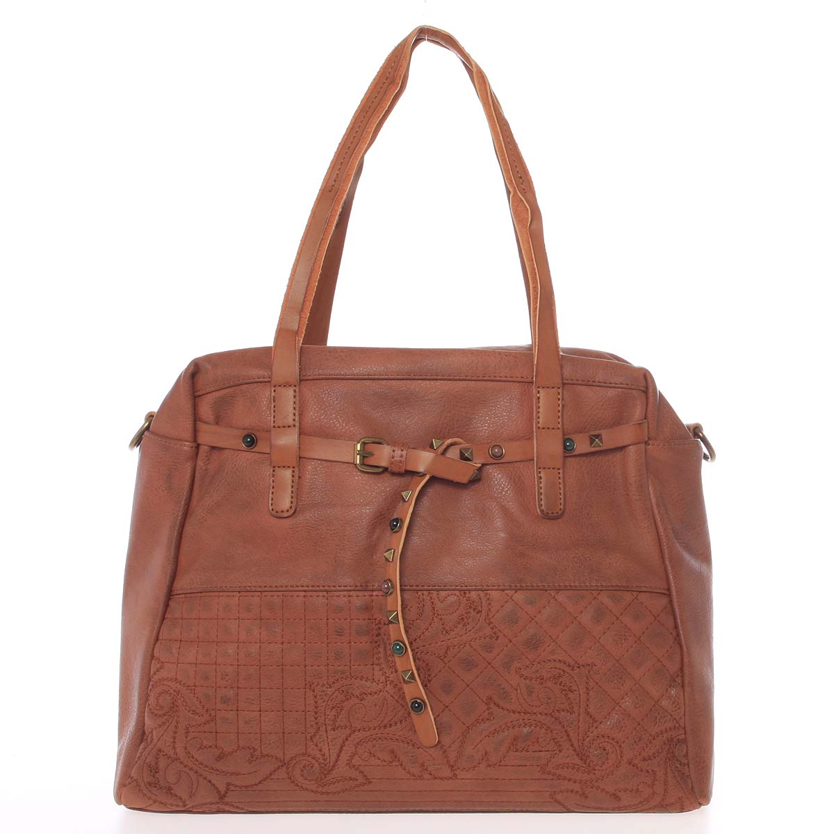 Jedinečná dámska kabelka hnedá - MARIA C Jocelynn hnedá