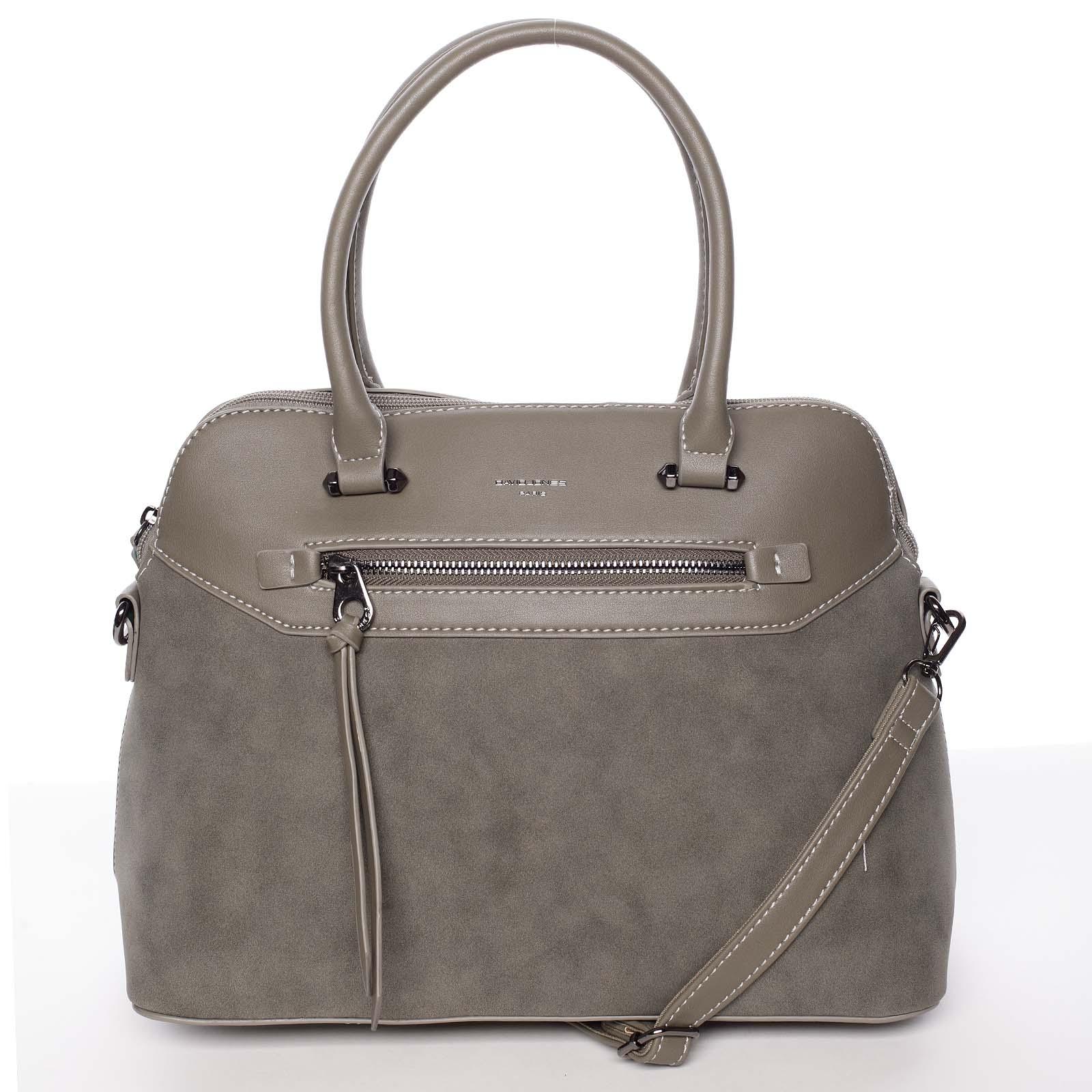 Dámska elegantná hladká khaki kabelka - David Jones Pernella Khaki