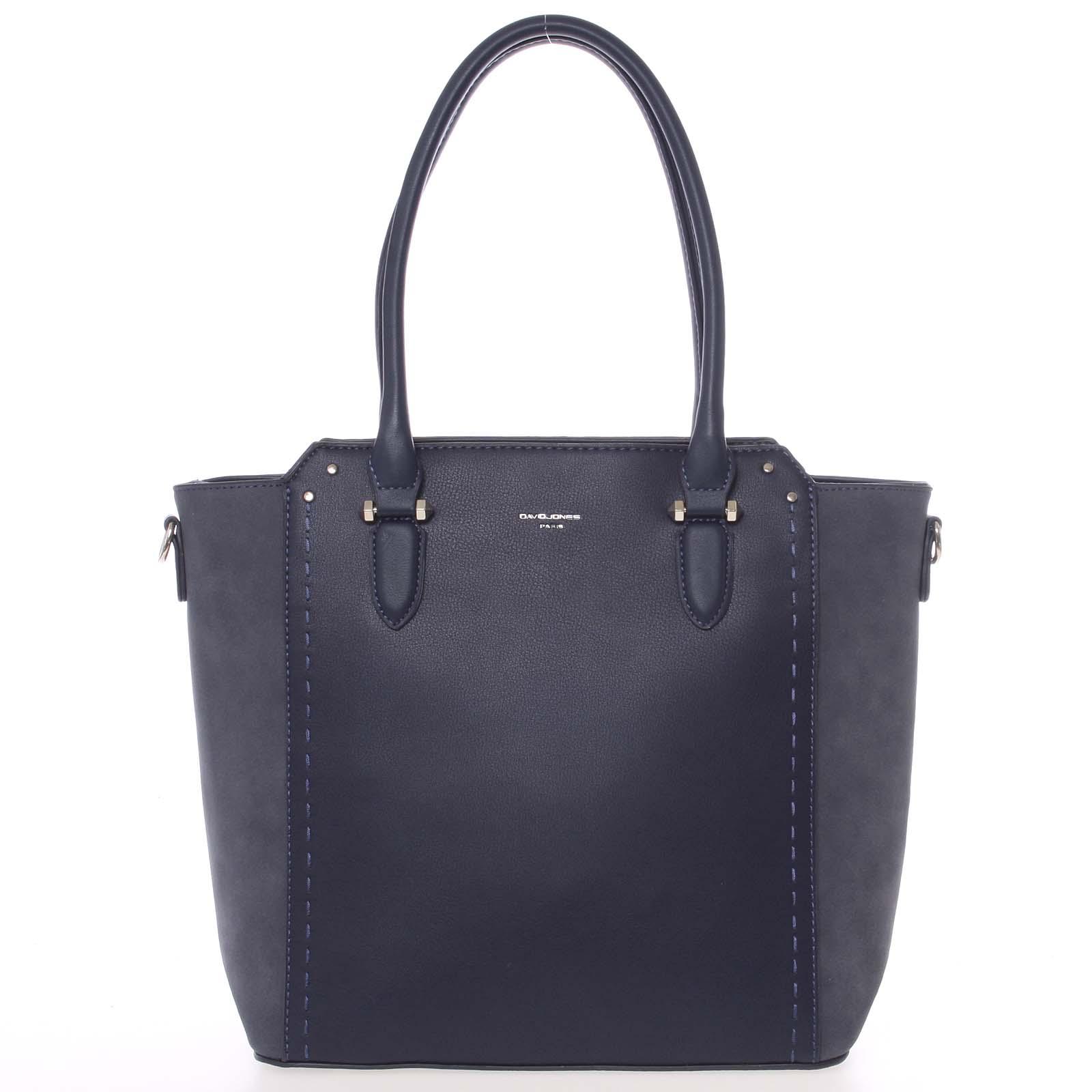 Väčšia dámska tmavo modrá kabelka cez rameno - David Jones Pelagiana modrá