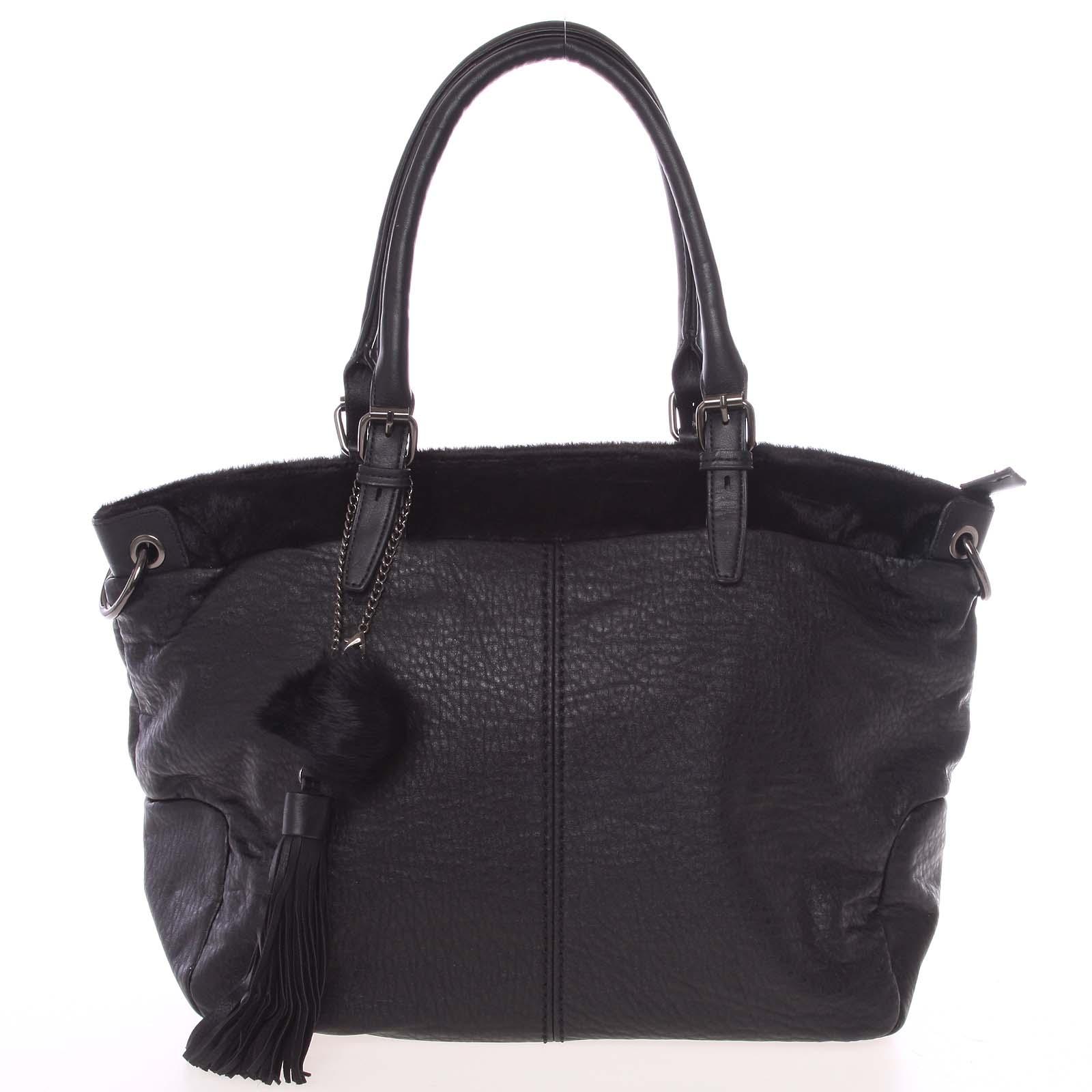 Módna mäkká dámska kabelka čierna - MARIA C Paige čierna
