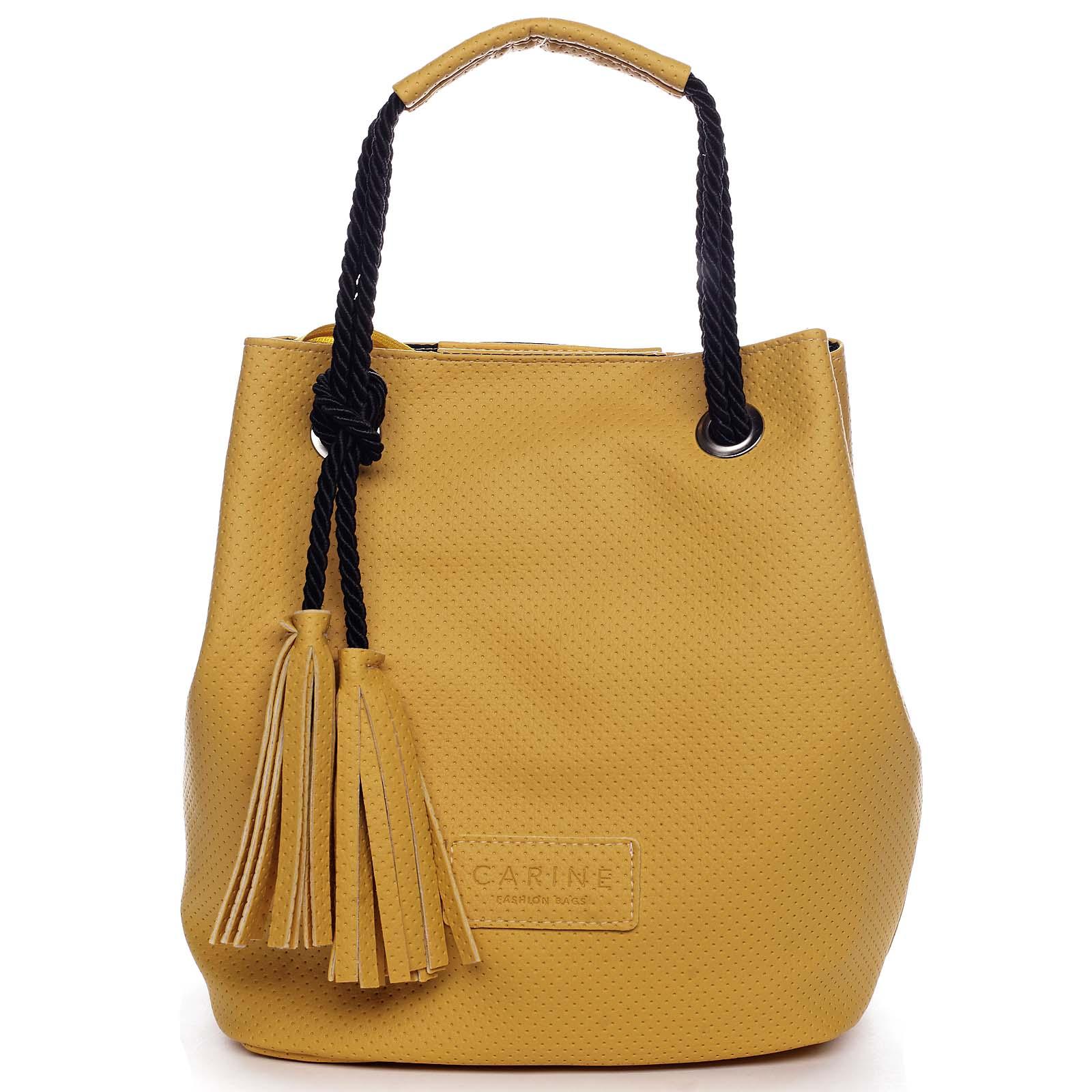 Dámska kabelka žltá - Carine C2000 žltá