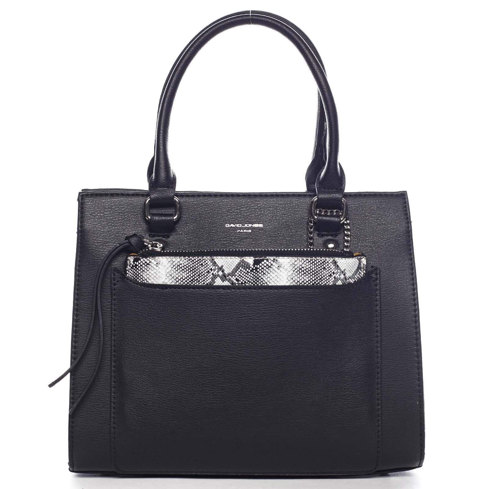 Exkluzívna dámska kabelka čierna - David Jones Joan čierna
