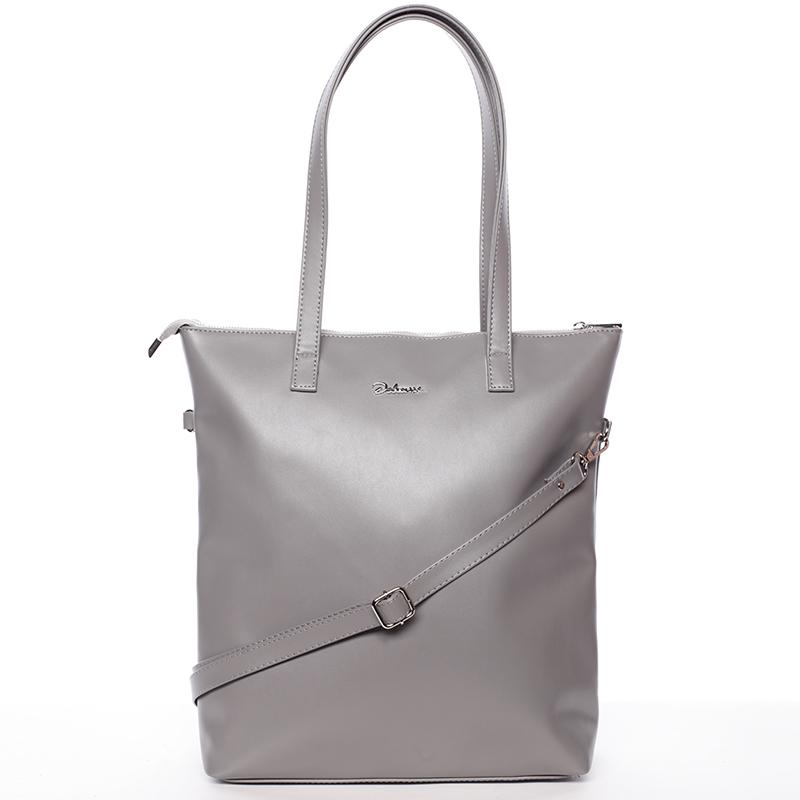 Vysoká dámska elegantná kabelka cez rameno šedá - Delami Ilithya šedá