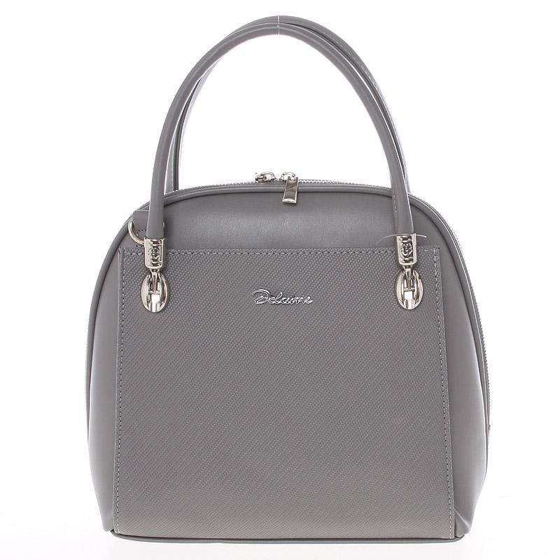 Dámska kabelka šedá saffiano - Delami Florencia šedá