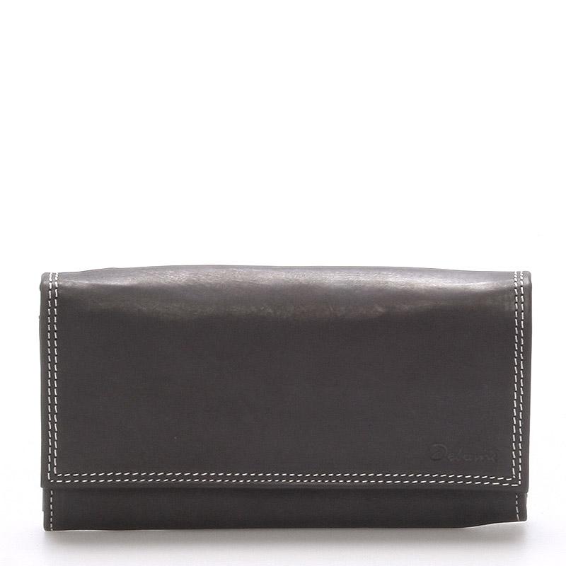 Dámska kožená peňaženka čierna - Delami Guara čierna