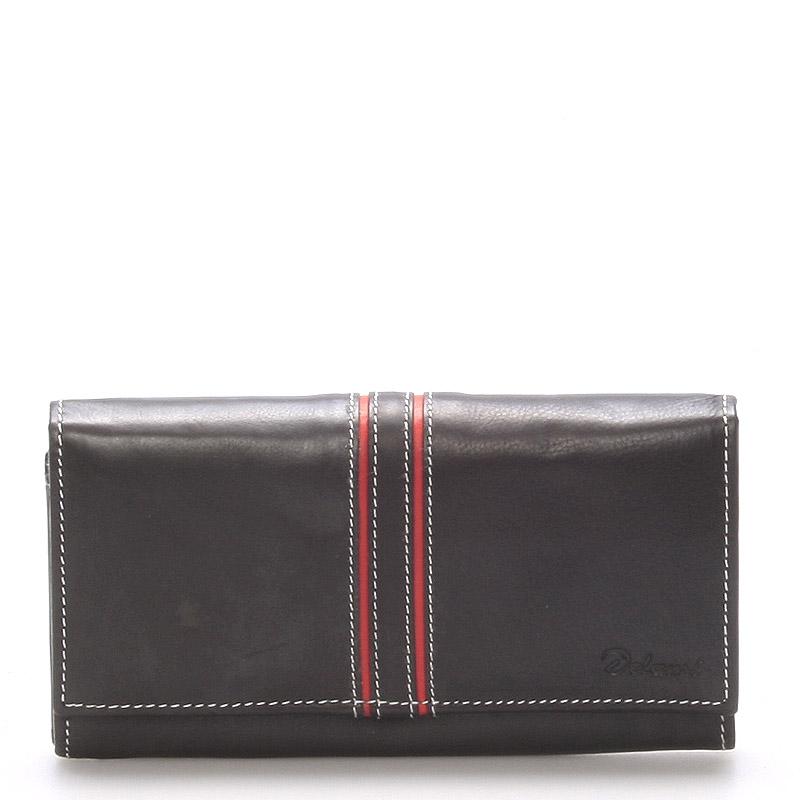 Dámska kožená peňaženka čierna - Delami Lestiel čierna