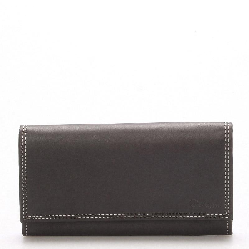 Dámska kožená peňaženka čierna - Delami naąli čierna