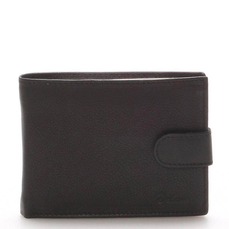 Kožená peňaženka čierna - Delami 8693 čierna
