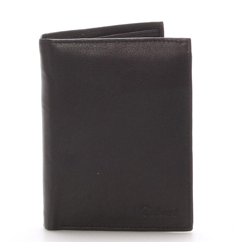 Pánska kožená čierna peňaženka - Delami 8229 čierna