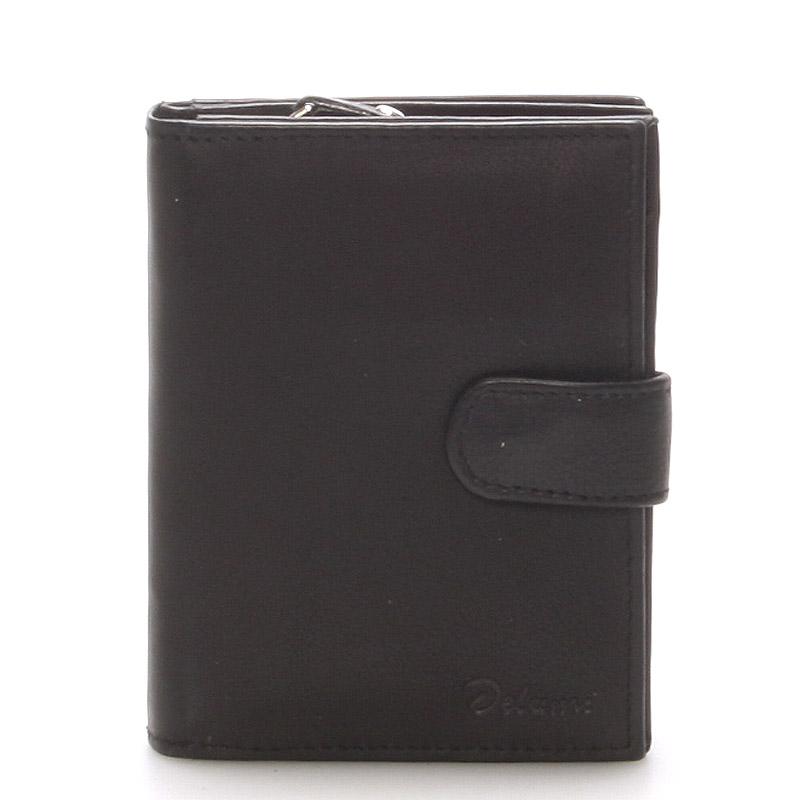 Kožená peňaženka čierna - Delami 101 čierna