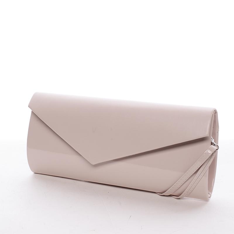 Štýlová dámska listová kabelka púdrová - Delami Charlotte ružová