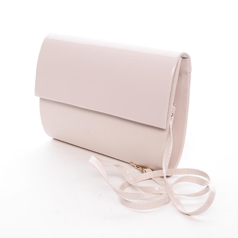 Stredná dámska elegantná listová kabelka púdrová matná - Delami Sandiego ružová