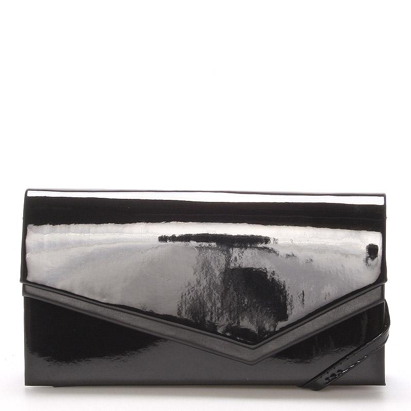 Originálna dámska listová kabelka čierna lesklá - Delami Phoenix čierna