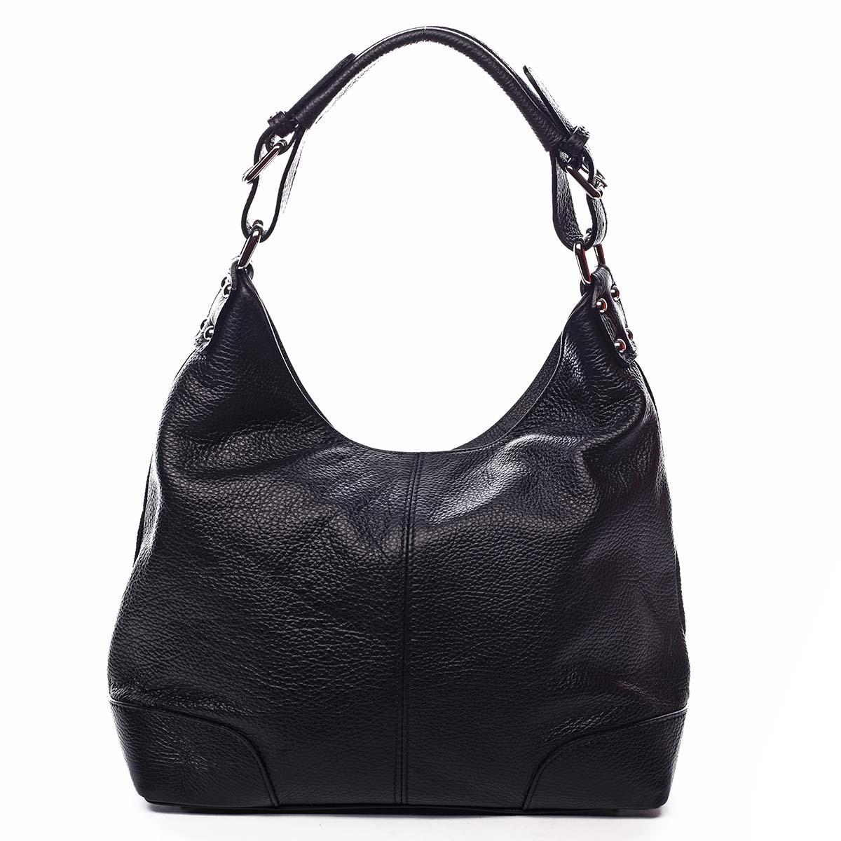 Dámska kožená kabelka čierna - ItalY Inpelle čierna