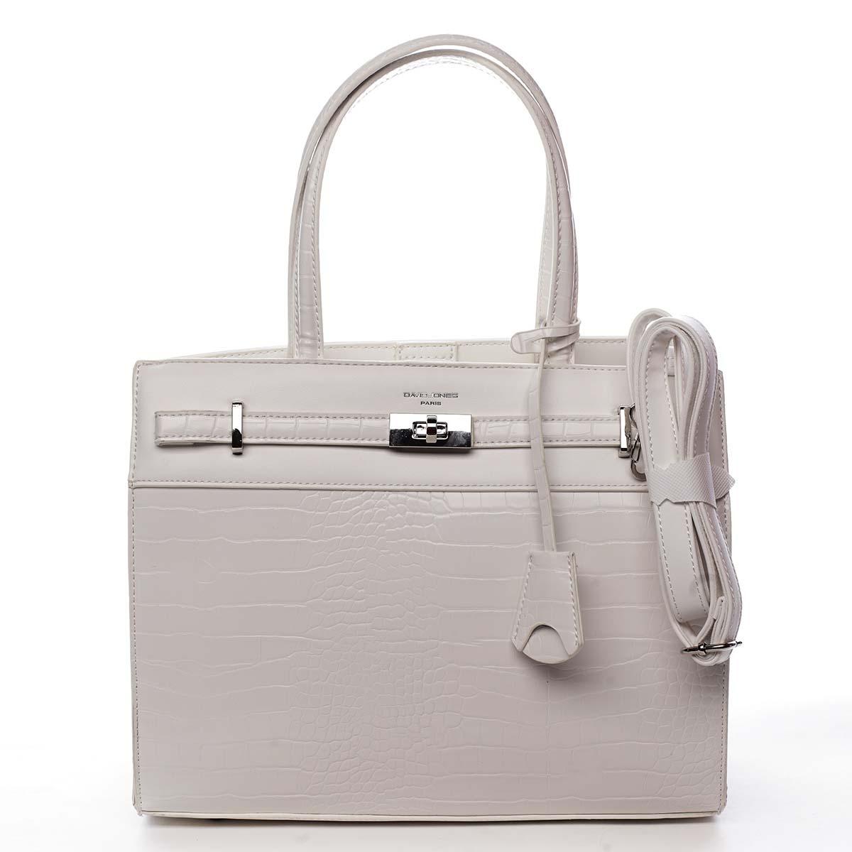 Dámska kabelka cez rameno biela - David Jones Devriese biela