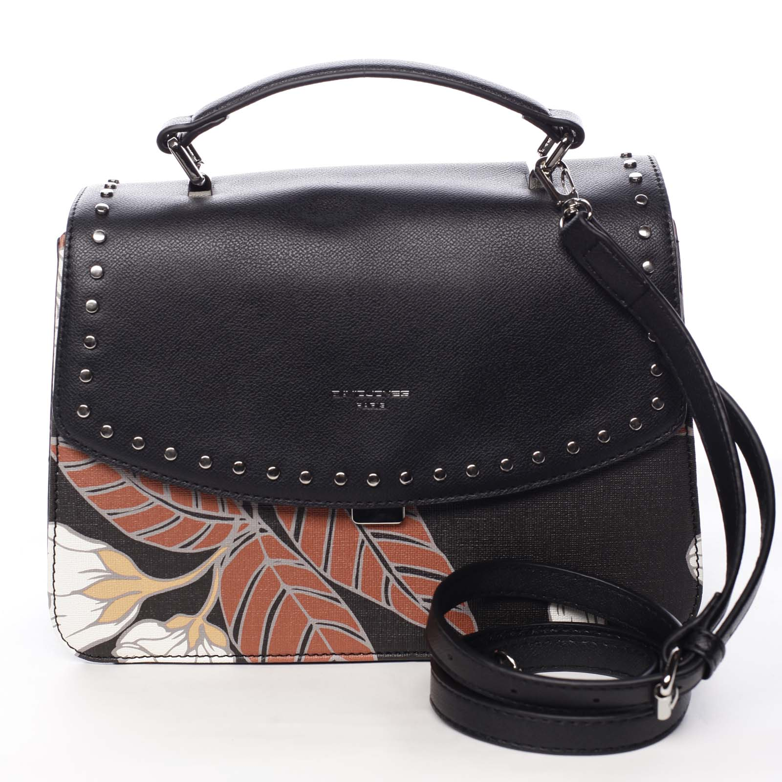 Dámska kabelka do ruky čierna - David Jones Floral čierna