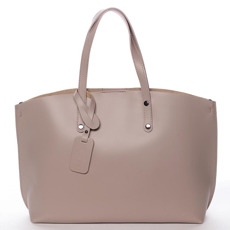Dámska kožená kabelka tmavá staroružová - ItalY Jordana ružová