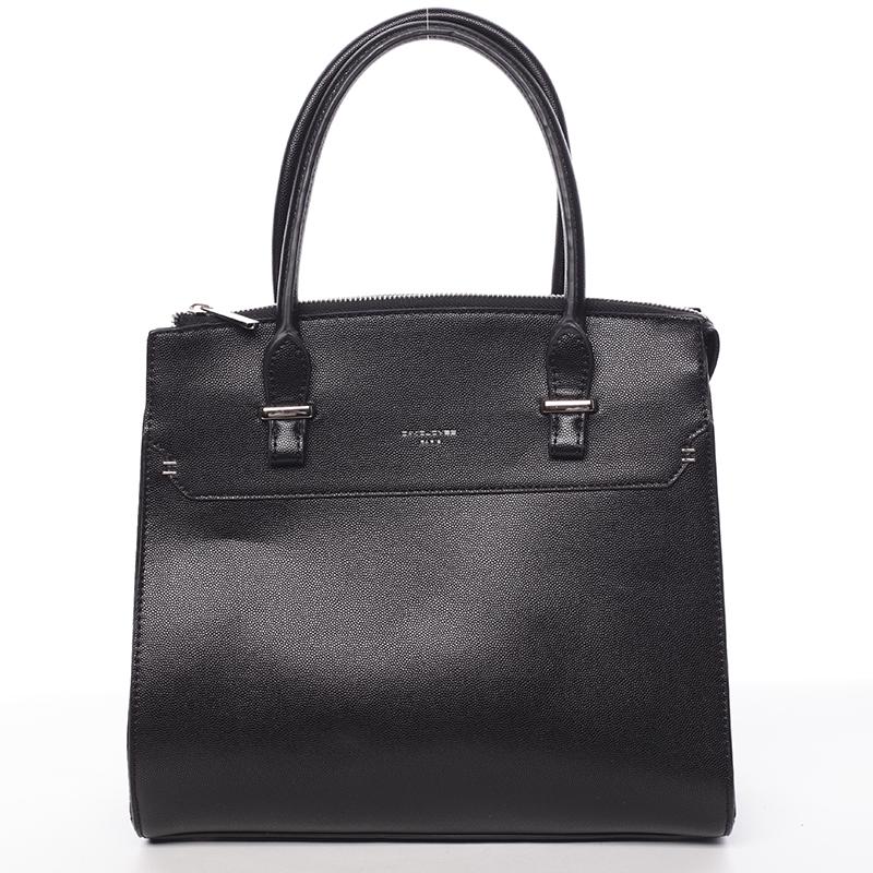 Exkluzívna dámska kabelka do ruky čierna - David Jones Lena čierna