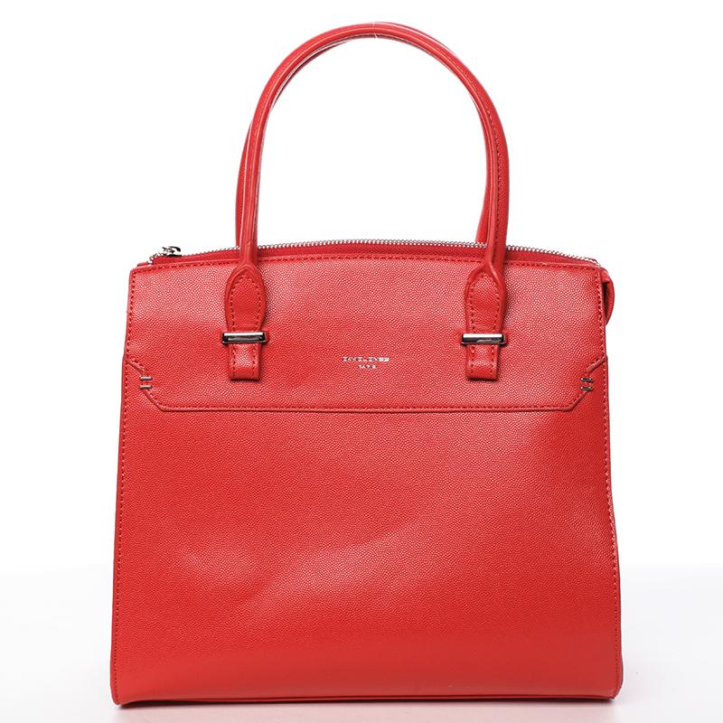 Exkluzívna dámska kabelka do ruky červená - David Jones Lena červená