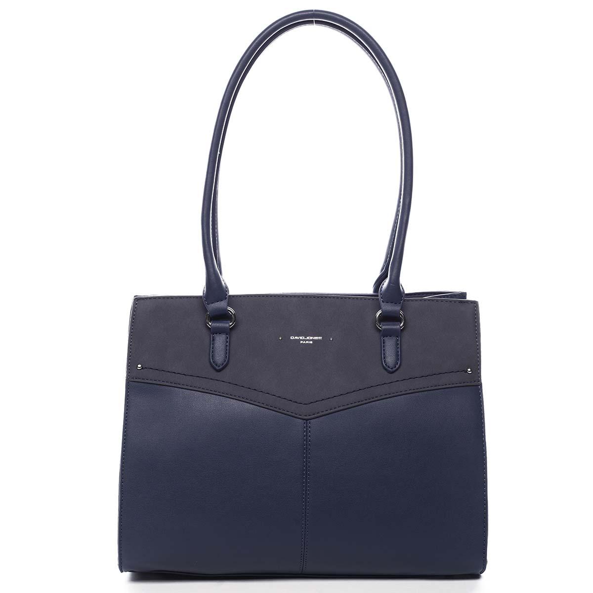 Dámska kabelka cez rameno tmavo modrá - David Jones Renesme tmavo modra