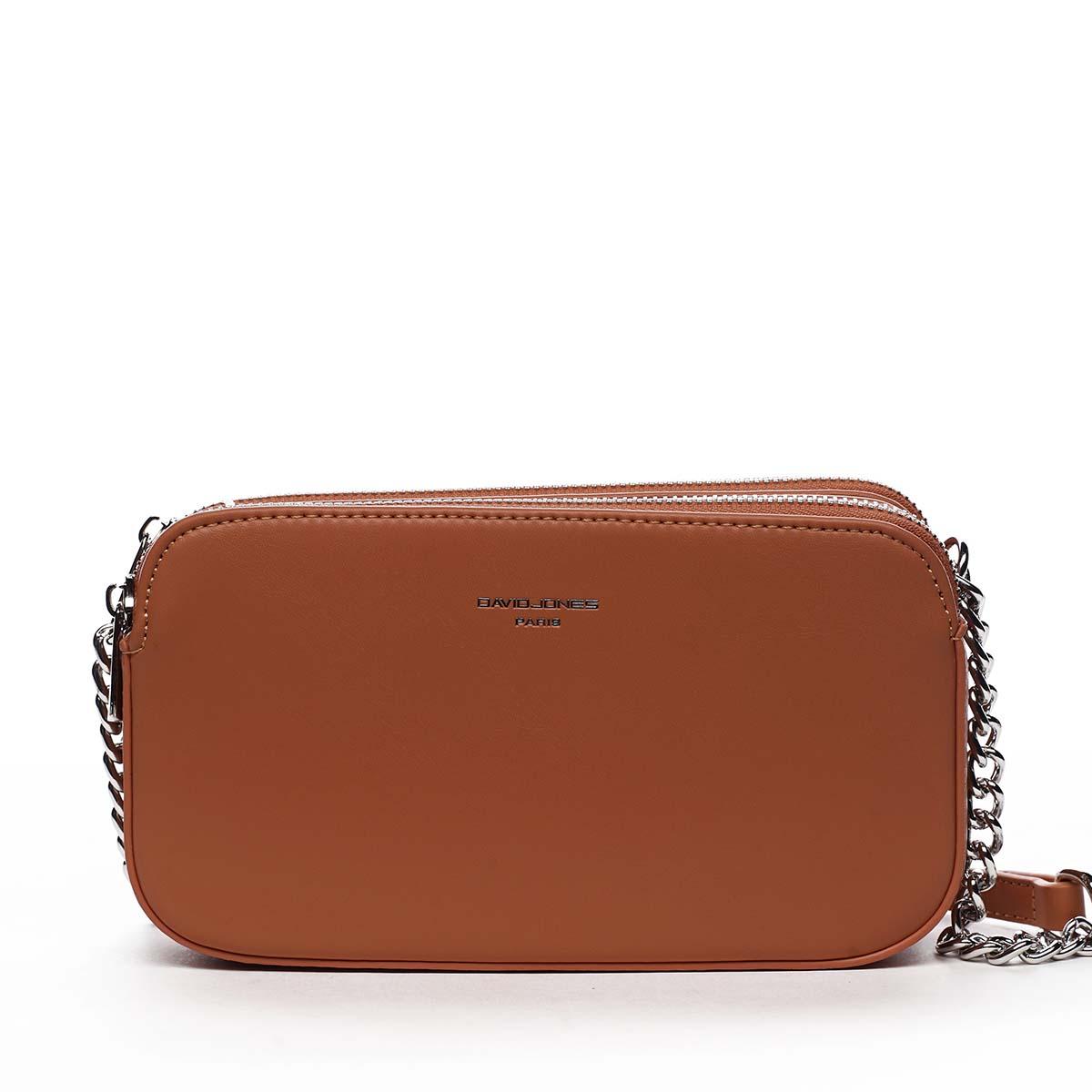 Malá dámska crossbody kabelka oranžová - David Jones Lily oranžová