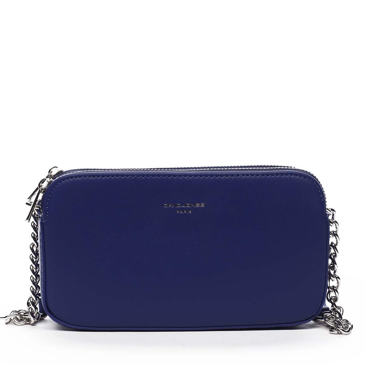 Malá dámska crossbody kabelka modrá - David Jones Lily modrá