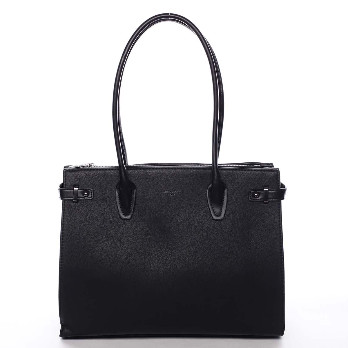 Veľká dámska kabelka cez rameno čierna - David Jones Andreza čierna